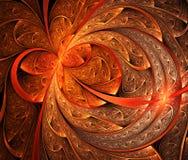 Цветок или цветочный узор фрактали иллюстрация штока