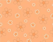 Цветок и мини цветок размера на светлооранжевом Иллюстрация вектора