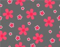 Цветок и мини цветок размера на сером цвете Стоковое фото RF