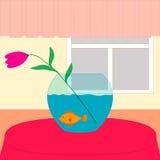 Цветок и рыбы Стоковые Фотографии RF
