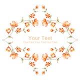 Цветок иллюстрации акварели в простой предпосылке Стоковое Изображение