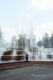 Цветок камня фонтана field вал стоковые фото