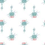 Цветок картины акварели чертополоха безшовный Стоковые Фотографии RF