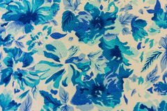 Цветок картины на ткани ткани Стоковые Фото
