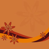 цветок конструкции ретро Стоковые Фотографии RF