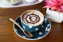 цветок кофейной чашки Стоковое Изображение RF