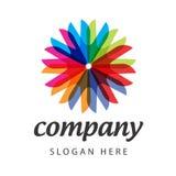 Спектральный логос цветка Стоковая Фотография