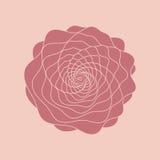 Цветок красного цвета вектора Стоковое Изображение