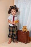 цветок мальчика милый немногая Стоковые Фотографии RF