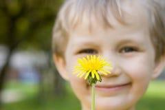 цветок мальчика Стоковая Фотография RF