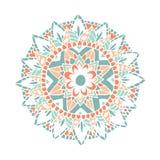 Цветок мандалы Zentangle внутри Стоковые Изображения RF