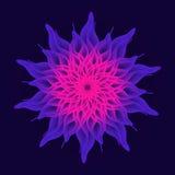 Цветок мандалы, священная геометрия иллюстрация вектора