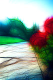 Цветок на конспекте тротуара Стоковое Изображение RF