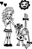 цветок дня дает матям сынка мумии к Иллюстрация вектора