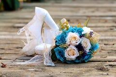 цветок обувает венчание стоковое изображение