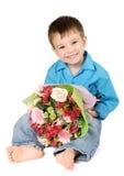 цветок одно мальчика букета Стоковое Изображение RF