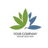 Цветок лотоса и женский логотип стороны иллюстрация штока