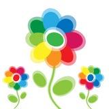 Цветок покрашенный радугой Иллюстрация штока
