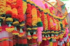Цветок предлагая религиозное поклонение Индию стоковые изображения