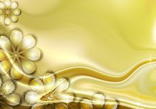 цветок предпосылки золотистый иллюстрация штока
