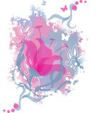 цветок предпосылки романтичный Стоковое Изображение