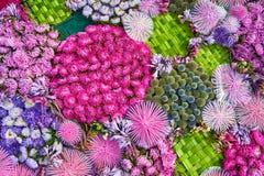 цветок предпосылки цветастый над взглядом Стоковые Изображения RF