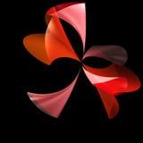 цветок предпосылки черный стилизованный Стоковые Фотографии RF