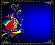 цветок птицы декоративный иллюстрация вектора