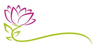 Цветок пурпура логотипа Стоковая Фотография RF
