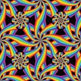 Цветок радуги соединить симметрию безшовную бесплатная иллюстрация