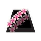 Цветок рамки на таблетке Стоковое Изображение