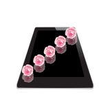 Цветок рамки на таблетке Стоковая Фотография RF