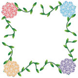 Цветок рамки Стоковое Изображение