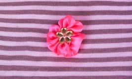 Цветок розовой ткани Стоковое Изображение RF