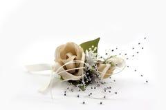 Цветок свадьбы на белой предпосылке Стоковое Изображение