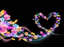 Цветок сердца Стоковое Изображение RF