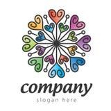 Цветастый логос сердца Стоковое Фото