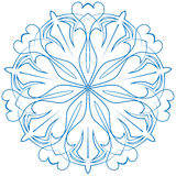 Цветок снежинки голубой на белой предпосылке Стоковые Фотографии RF