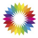 Цветок спектральных цветов или цветовой гаммы Стоковые Изображения