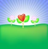 цветок счастливый иллюстрация вектора