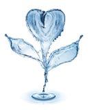 Цветок сделанный из воды брызгает изолированный на белой предпосылке Стоковая Фотография RF