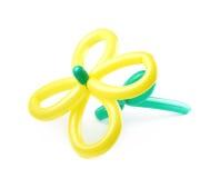 Цветок сделанный из изолированного воздушного шара Стоковые Фотографии RF