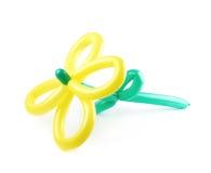 Цветок сделанный из изолированного воздушного шара Стоковое Изображение RF