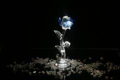 Цветок сделанный от стекла стоковая фотография rf