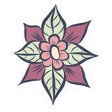 Цветок с листьями Стоковое фото RF