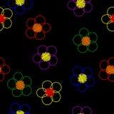 цветок темноты предпосылки Стоковое Изображение RF