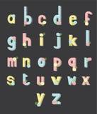 Цветок точки цвета шрифта Стоковые Фотографии RF