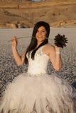 Цветок укуса льда официально платья женщины Стоковое фото RF