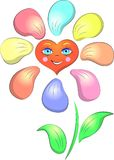 Цветок улыбки сердца Стоковые Изображения RF