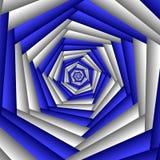 Цветок фрактали конспекта свирли, голубой, белый Геометрическая картина мозаики Большой для гобелена, ковра, одеяла, покрывала, т иллюстрация вектора